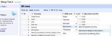 Merging Datasets with Common Columns in Google Refine   Online