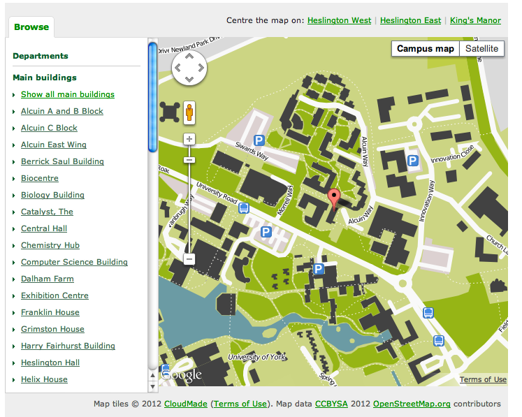 Further Innovations In Campus Mapping Ouseful Info The