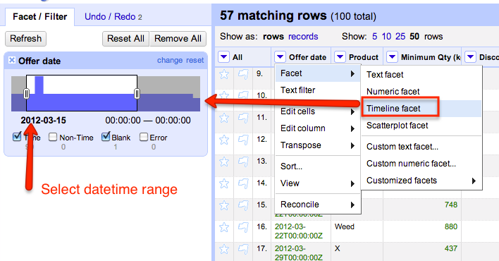 Chit Chat with New Datasets – Facets in OpenRefine (Was