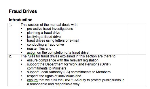 fraud drive