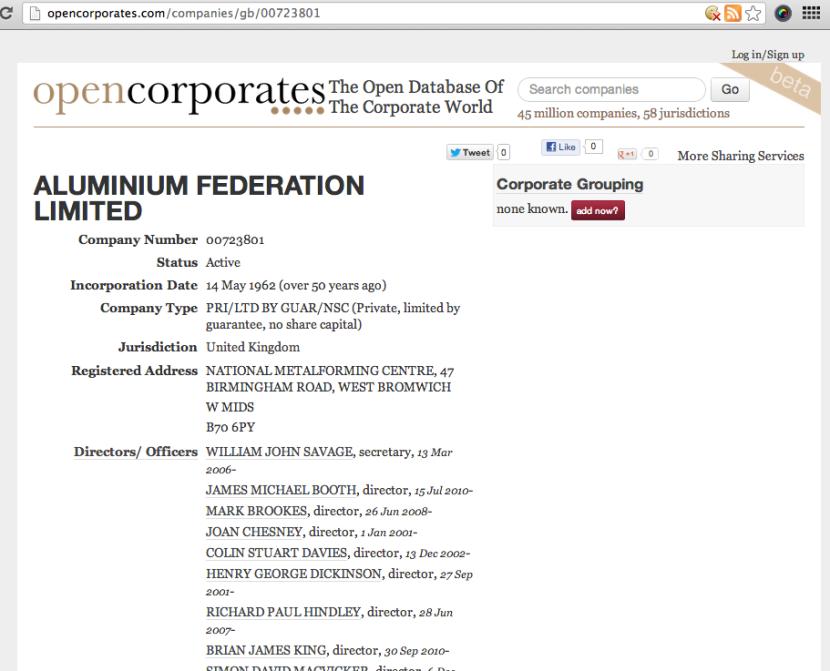 opencorposrates - look up directors