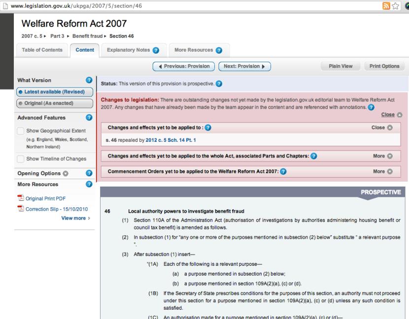 welfare reform 2007