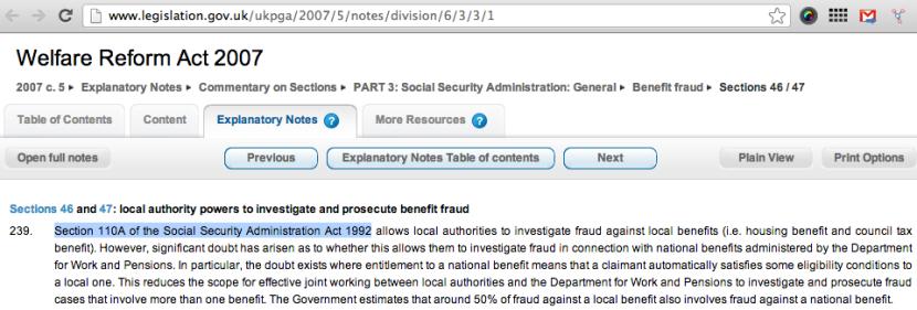 wlefare reform act 2007 notes