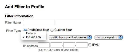 googalytics IP range tracking