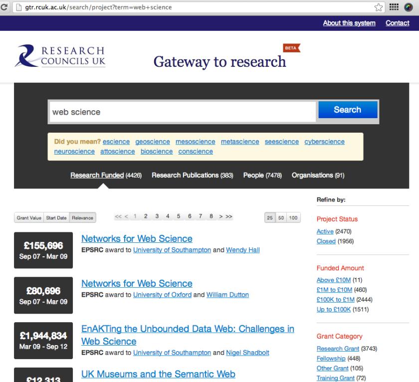 RCUK - Gateway to Research