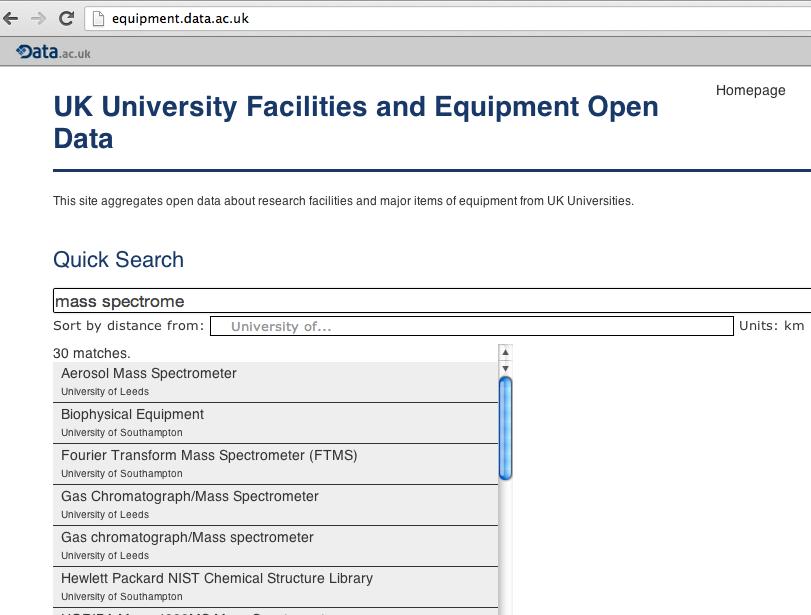 data.ac.uk equipment register