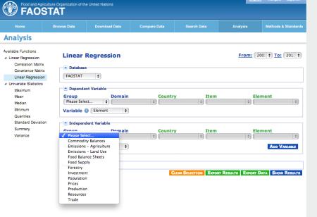 FAOStat - ddata analysis