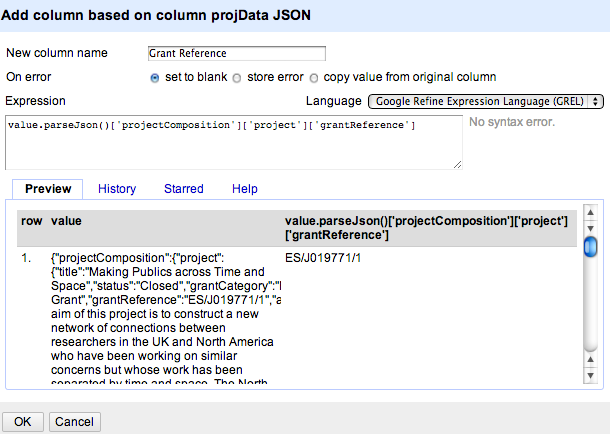 open refine parse json