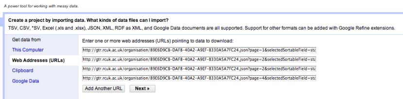 OpenRefine import data