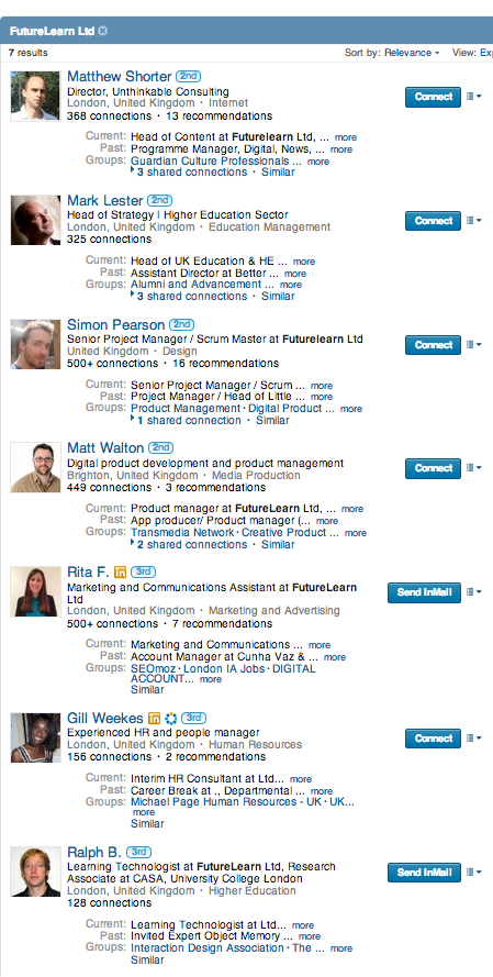 futurelearn on linkedIN