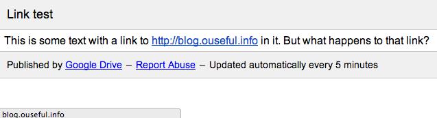 google doc publish to web