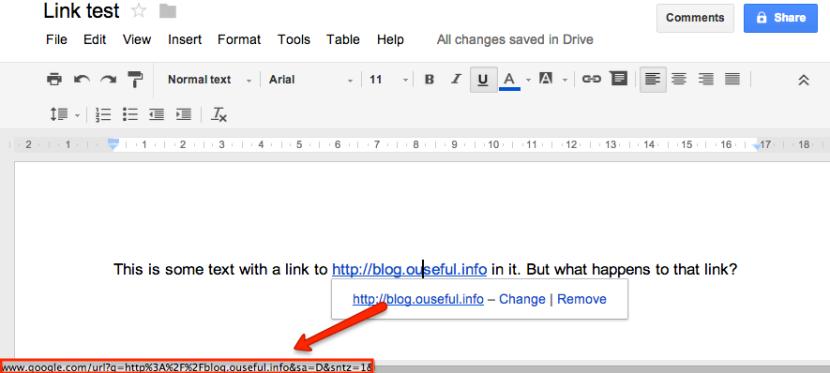 google docs link direction