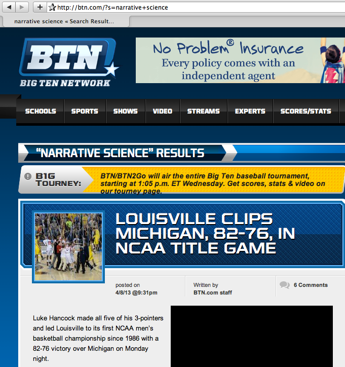 BTN and Narrative Science?