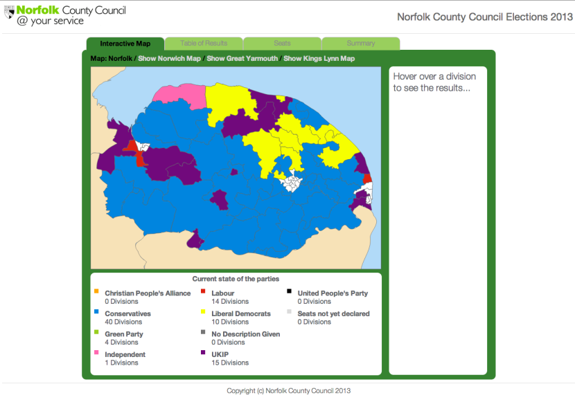 Norfolk election map