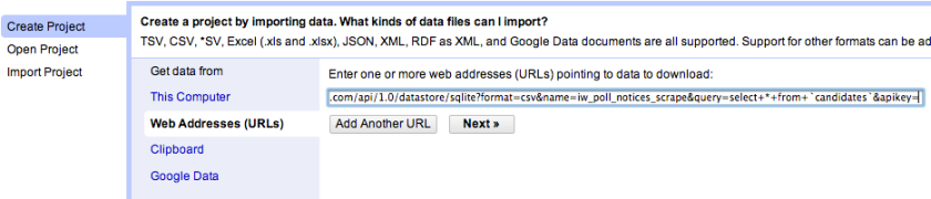 openrefine import from URL