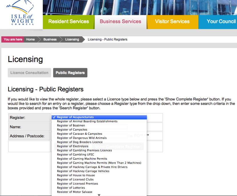 Public registers
