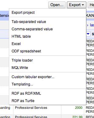 open refine export data