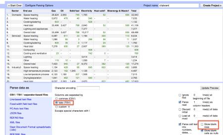 Refine - paste import settings (DECC)