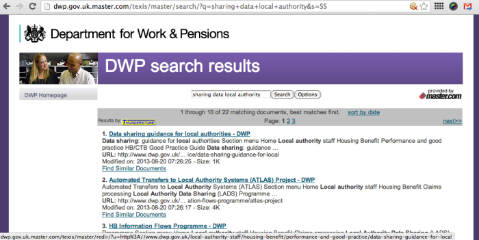 dwp search