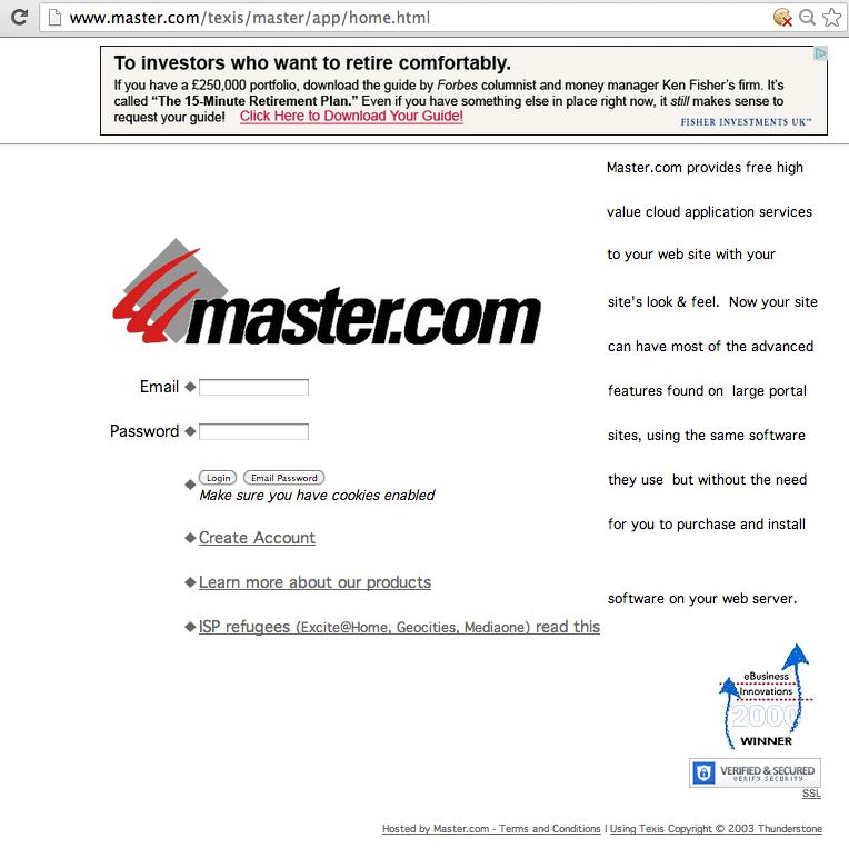 master.com homepage