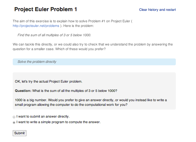 oppia project euler 1