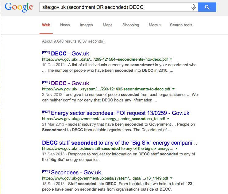 Secondments google gov.uk