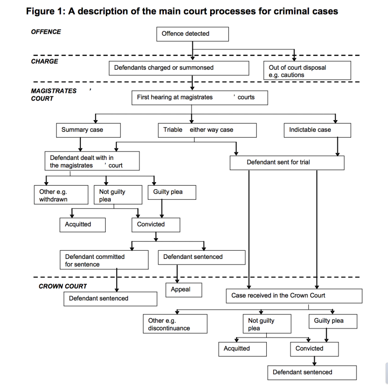 criminal court process Commonly used terms of criminal court proceedings with a brief description of what each means and how the process works.
