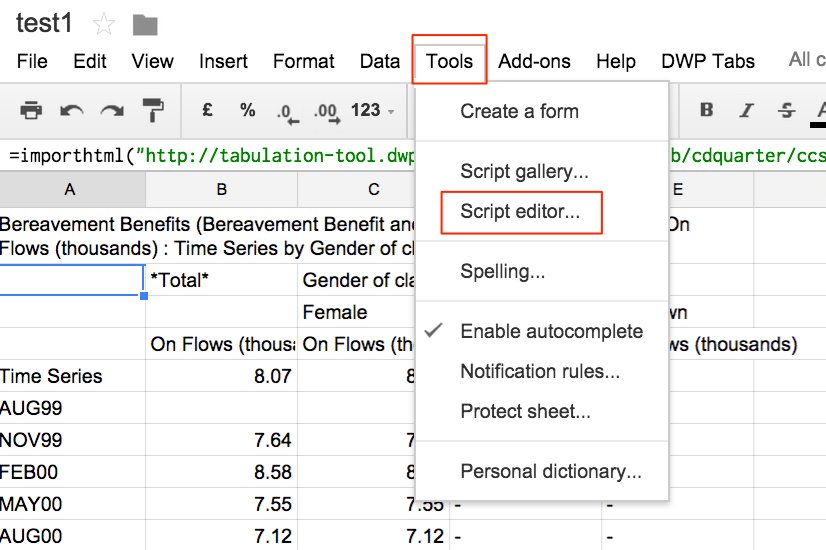 how to add words to legend in google sheets