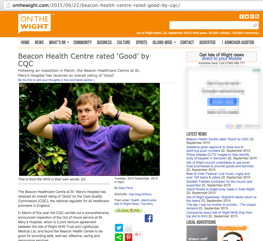 Beacon_Health_Centre_rated_'Good'_by_CQC