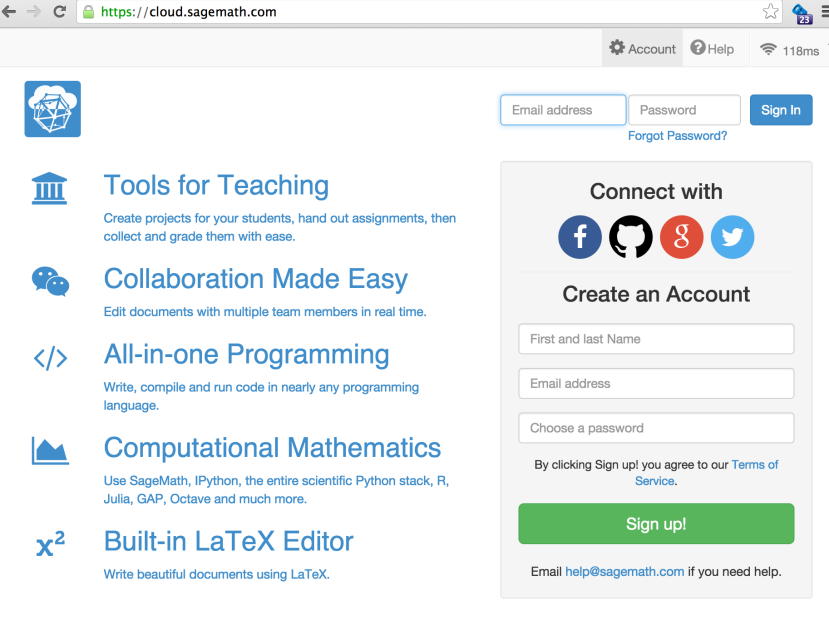 Course Management and Collaborative Jupyter Notebooks via SageMathCloud