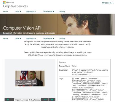 More Recognition/Identification Service APIs – Microsoft