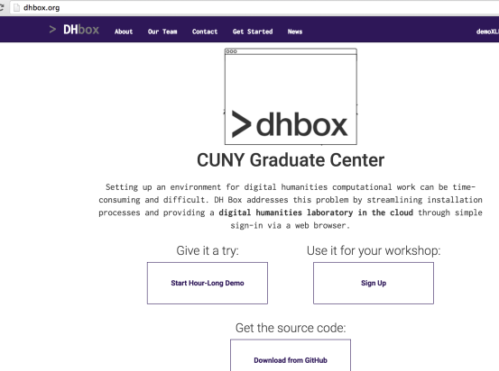 DH Box – Digital Humanities Virtual Workbench