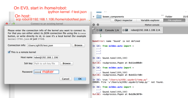 Using IPython on Lego EV3 Robots Running Ev3Dev – OUseful