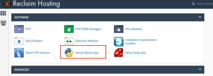 Creating a Simple Python Flask App via cPanel on Reclaim