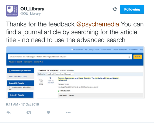 ou_library_on_twitter___thanks_for_the_feedback__psychemedia_you_can_find_a_journal_article_by_searching_for_the_article_title_-_no_need_to_use_the_advanced_search_https___t_co_ixuyo1lpbs_