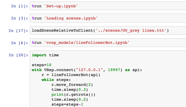IPython Magic for Controlling the V-REP Robot Simulator from