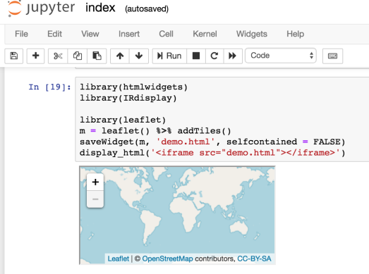 R HTMLWidgets in Jupyter Notebooks