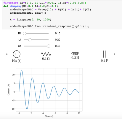 Python & Jupyter – Electrical Circuit Diagram Generation – lcapy