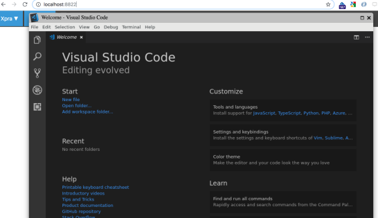 Running Microsoft VS Code Remotely – In a Browser Using XPRA and Via