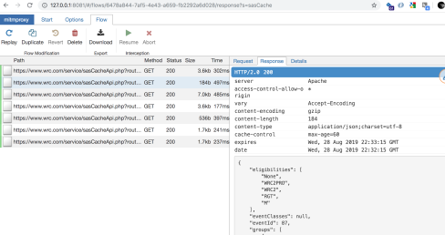 Intercepting JSON HTTP Responses to Web Browser Page
